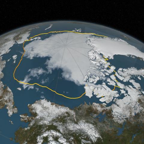 Модель таяния льдов в Арктике